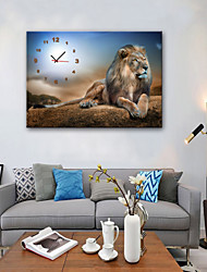 cheap -Modern Style / Rustic Mahogany Square Landscape / Animal Indoor Battery Decoration Wall Clock Analog No