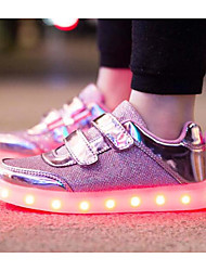 cheap -Girls' LED / Comfort / USB Charging Tulle Sneakers Little Kids(4-7ys) / Big Kids(7years +) Luminous Pink / Gold / Silver Spring / EU37