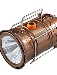 cheap -Lanterns & Tent Lights Emergency Lights 100 lm LED - Emitters Automatic Mode with Charger Form Fit Simple Solar Power Camping / Hiking / Caving Black Brown Gold
