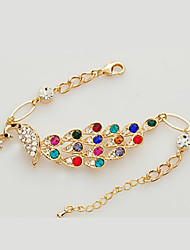 cheap -Women's Chain Bracelet Fashion Austria Crystal Bracelet Jewelry Rainbow For Daily
