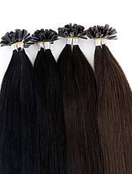 cheap -Neitsi Fusion / U Tip Human Hair Extensions Straight Remy Human Hair Brazilian Hair Natural Brown 1pack Women's Chestnut Brown