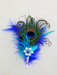 """cheap -Wedding Flowers Boutonnieres / Headdress / Brooches & Pins Wedding / Event / Party Feathers / Goose Feather 6.69""""(Approx.17cm)"""
