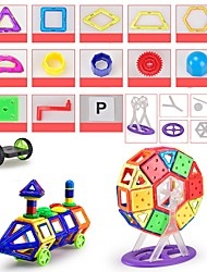 cheap -Magnetic Blocks Magnetic Tiles Building Blocks 146 pcs Architecture Vehicles Car Transformable Special Designed Parent-Child Interaction Boys' Girls' Toy Gift