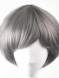 cheap -Synthetic Wig Straight Straight Bob Wig Short Grey Synthetic Hair Gray