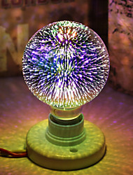 Недорогие -1шт 5 W Круглые LED лампы LED лампы накаливания 450 lm E26 / E27 G95 28 Светодиодные бусины Integrate LED Декоративная звездный 3D Фейерверк Multi-цветы 85-265 V / RoHs