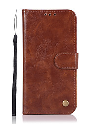 cheap -Phone Case For Samsung Galaxy Full Body Case Leather Wallet Card A3 A5 A7(2017) A5(2016) A3(2016) Wallet Card Holder with Stand Solid Color Hard PU Leather