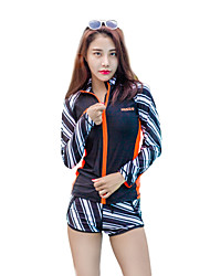 cheap -HISEA® Women's Rash Guard Dive Skin Suit Diving Suit SPF50 UV Sun Protection Windproof Long Sleeve Geometric Classic Fashion Spring, Fall, Winter, Summer / UV Resistant / Quick Dry / Stretchy