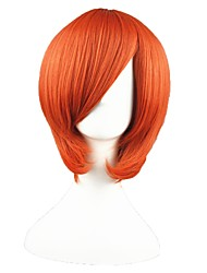 cheap -Synthetic Wig kinky Straight kinky straight Wig Short Orange Synthetic Hair Women's Red