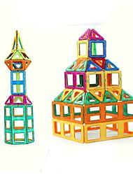 Недорогие -Магнитный конструктор Магнитные плитки Конструкторы 263 pcs Архитектура Люди Транспорт трансформируемый Взаимодействие родителей и детей