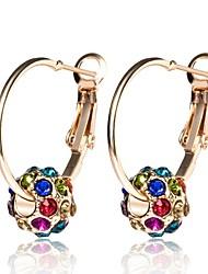cheap -Women's Hoop Earrings Lever Back Earrings Ball Ladies Classic Fashion Imitation Diamond Earrings Jewelry Gold For Daily