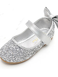 cheap -Girls' Comfort / Novelty / Flower Girl Shoes Sparkling Glitter Flats Little Kids(4-7ys) Bowknot / Magic Tape Gold / Silver Spring / Fall / Party & Evening / Rubber