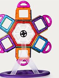 Недорогие -Магнитный конструктор Магнитные плитки Конструкторы 98 pcs Архитектура трансформируемый Мальчики Девочки Игрушки Подарок