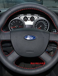cheap -Steering Wheel Covers Genuine Leather 38cm For universal / Ford Focus / General Motors