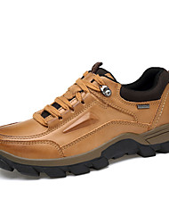 cheap -Men's Comfort Shoes Leather Spring / Winter Athletic Shoes Light Brown / Dark Brown