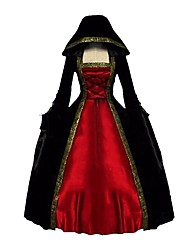 cheap -Costume Red+Black Vintage Cosplay Party Prom Plus Size Customized