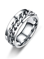 cheap -Men's Women's Band Ring Gold Black Silver Stainless Steel Circle Twist Circle Asian Classic Daily Formal Jewelry Twist Circle