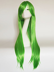cheap -Synthetic Wig Straight kinky Straight kinky straight Asymmetrical With Bangs Wig Long Medium Auburn Green Red Yellow Synthetic Hair Women's Natural Hairline Green Brown