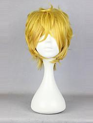 cheap -Yogi Cosplay Wigs Unisex 14 inch Heat Resistant Fiber Blonde Yellow Anime