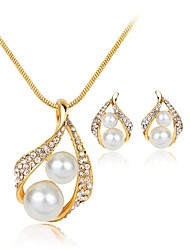 cheap -Women's Jewelry Set Drop Ladies Bohemian European Sweet Boho Imitation Pearl Earrings Jewelry White For Party Evening Party