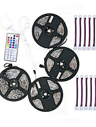 cheap -ZDM 4x5M 5050 10mm RGB LED Strip Light 30LEDsMeters 44Key IR Controller and 1x1 To 4 Cable Connnector with 10PCS Connecting line DC12V 140W