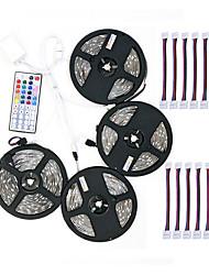 Недорогие -ZDM 4x5 м 5050 10 мм RGB светодиодные полосы света 30 светодиодов 44-клавишный ИК-контроллер и 1x1 до 4 разъема кабеля с 10 шт. соединительной линии dc12v 140 Вт
