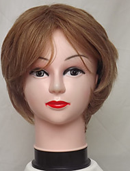 cheap -Synthetic Wig Curly Deep Wave Deep Wave Bob With Bangs Wig Blonde Short Strawberry Blonde Synthetic Hair Women's Highlighted / Balayage Hair Natural Hairline Blonde