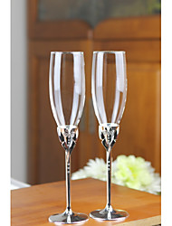 cheap -Glass / Zinc Alloy Toasting Flutes Gift Box People / Wedding All Seasons