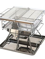 Недорогие -Походная горелка Все для приготовления пищи на улице 1 Складной за 3-4 человека Нержавеющая сталь на открытом воздухе Походы Серебряный