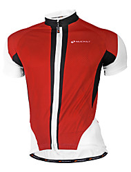 cheap -Nuckily Men's Short Sleeve Cycling Jersey Polyester Red Blue Geometic Bike Jersey Top Mountain Bike MTB Road Bike Cycling Breathable Quick Dry Anatomic Design Sports Clothing Apparel / Stretchy