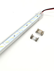 cheap -ZDM 100cm 72 x 8520 SMD LEDs Super Bright Hard Lamp Strips Warm White / Cold White Transparent Mask Thickened Aluminum Shell DC12 V