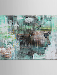 cheap -Oil Painting Hand Painted People Comtemporary Simple Modern Stretched Canvas With Stretched Frame