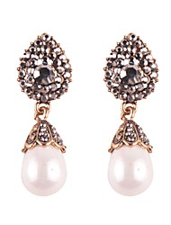 cheap -Women's Drop Earrings Drop Ladies Oil Painting Elegant Crystal Imitation Pearl Earrings Jewelry Gold / Silver For Wedding Daily Masquerade Engagement Party Prom
