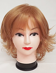 cheap -Synthetic Wig Curly Curly Asymmetrical With Bangs Wig Blonde Short Strawberry Blonde Synthetic Hair Women's Natural Hairline Blonde Brown