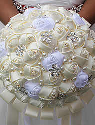 "cheap -Wedding Flowers Bouquets Wedding Bead / Crystal / Rhinestone / Satin 9.84""(Approx.25cm)"
