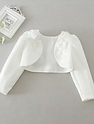 abordables -Enfants Bébé Fille Quotidien Couleur Pleine Manches Longues Court Costume & Blazer Blanche / Mignon
