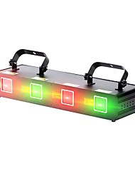 cheap -U'King Disco Lights Party Light Laser Stage Light 9 DMX 512 / Master-Slave / Sound-Activated Party / Stage / Bar Professional / Durable Red Green for Dance Party Wedding DJ Disco Show Lighting