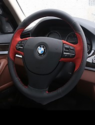 cheap -Steering Wheel Covers Genuine Leather Red / Blue For BMW X3 / X5 / 3 Series All years