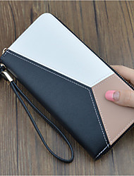 cheap -Women's Tassel PU Leather Wallet Geometric Black / Blushing Pink