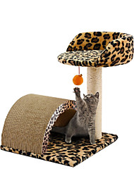 cheap -Cat Beds Scratch Art Paper & Papercrafting Recycled Paper Plush Fabric Sisal Pet Liners Leopard Leopard For Pets