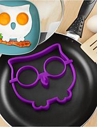 Недорогие -силиконовая сова жареные яйца плесень diy омлет прибор приготовления инструменты