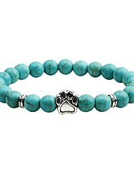 cheap -Women's Turquoise Obsidian Bracelet Animal Ladies Agate Bracelet Jewelry Gray / Brown / Turquoise For Gift Going out