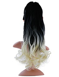 cheap -Drawstring Ponytails Tie Up Synthetic Hair Hair Piece Hair Extension Curly