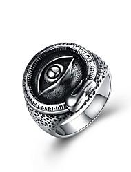 cheap -Men's Statement Ring Signet Ring Illuminati Ring Silver Stainless Steel Cartoon Punk Fashion Carnival Club Jewelry Monster Magic