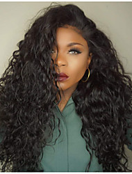 cheap -Human Hair Glueless Lace Front Lace Front Wig Bob Layered Haircut With Bangs style Brazilian Hair Kinky Curly Wig 130% Density with Baby Hair Dark Roots Natural Hairline 100% Virgin Unprocessed