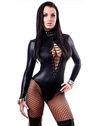 cheap -Women's Fifty Shades Catwoman Sex Zentai Suits Cosplay Costume Catsuit Solid Colored Leotard / Onesie / Spandex