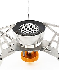 cheap -Camping Stove Camping Burner Stove Outdoor Cookware Case Included for 2 person Stainless Steel Outdoor Camping Silver