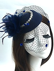 cheap -Feather / Net Fascinators / Hats with Feathers / Fur 1pc Wedding / Special Occasion Headpiece