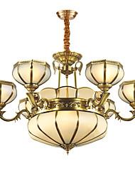 Недорогие -ZHISHU 5-Light 86 cm Мини Подвесные лампы Металл Стекло Латунь Традиционный / классический 110-120Вольт / 220-240Вольт