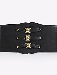 cheap -Women's Vintage / Casual Leather / Fabric Wide Belt