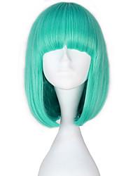 abordables -Perruques de lolita Lolita Bleu Princesse Lolita Perruque Lolita  14 pouce Perruques de Cosplay Couleur unie Perruque Perruques d'Halloween